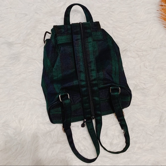 Vintage Green Halloween Plaid Backpack